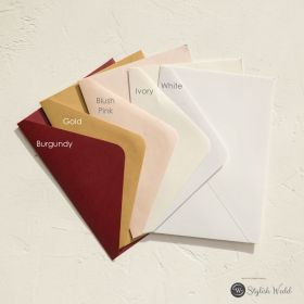 optional colorful 120GSM outer envelopes for invitations SWES001