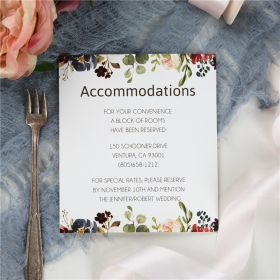burgundy and blush floral wedding accommodation cards SWPI059a