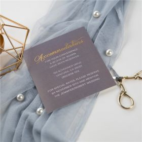 classic grey and gold foil MR & MRS wedding accommodation cards SWFI002a