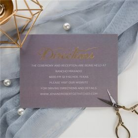 classic grey and gold foil MR & MRS wedding direction cards SWFI002f