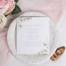 dusty blue and blush floral wedding accommodation card SWPI022a