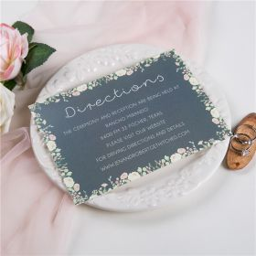 dusty blue and blush floral wedding direction card SWPI022f