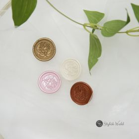 Flower wax seal for invitations SWWAX02