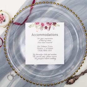 pink and purple floral accommodation card SWPI005a