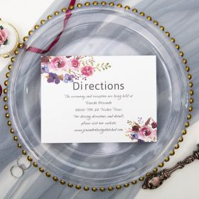 pink and purple floral direction card SWPI005f