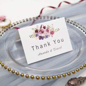 pink and purple floral thank card SWPI005t