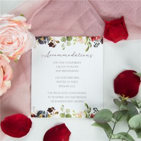 radiant burgundy and navy floral wedding accommodation cards SWPI046a