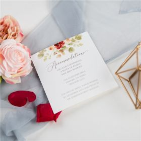 romantic shades of burgundy floral wedding accommodation cards SWPI052a