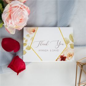 romantic shades of burgundy floral wedding thank you cards SWPI052t