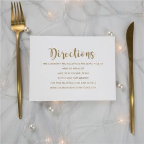 simple gold foil wedding direction cards SWFI004f