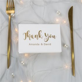 simple gold foil wedding thank you cards SWFI004t