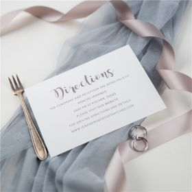 simple modern calligraphy direction cards SWPI043f