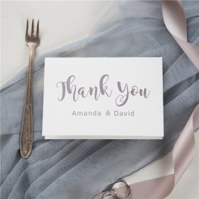 simple modern caligraphy thank you cards SWPI043t