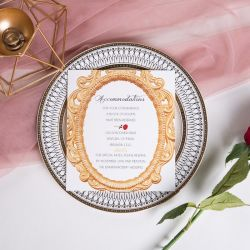 classic beauty and the beast inspired and red rose wedding accommodation cards SWPI015a