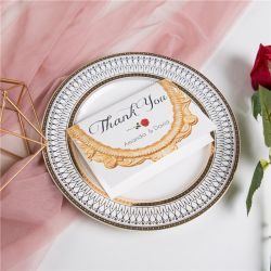 classic beauty and the beast inspired and red rose wedding thank you cards SWPI015t