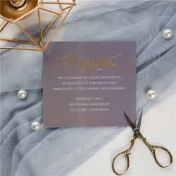 classic grey and gold foil MR & MRS wedding reception cards SWFI002d
