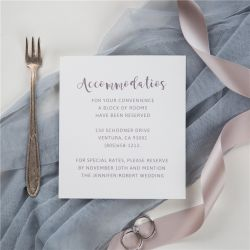 simple modern calligraphy accommodation cards SWPI043a