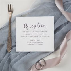 simple modern calligraphy reception cards SWPI043d