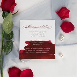 wine and gold watercolor wedding accommodation card SWPI051a